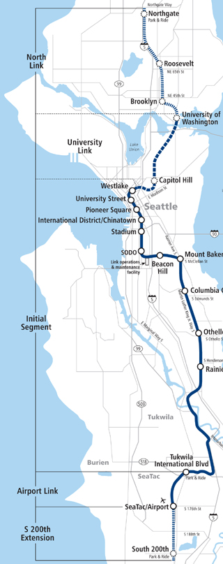 Link Rail Seattle Map.Seattle Djc Com Local Business News And Data Central Link Light Rail