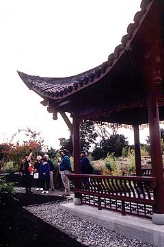 in addition to offering a stunning view the borrowed scenery of the seattle skyline makes the 6 acre seattle chinese garden seem even larger - Seattle Chinese Garden
