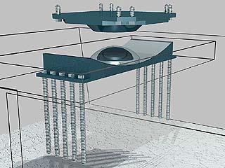 friction pendulum damper system