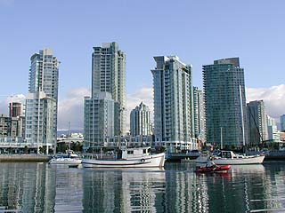 pin towers of Concord Pacific Quayside