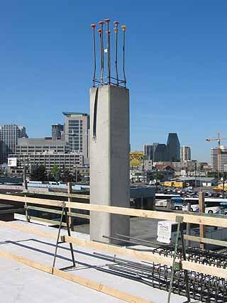 how to clean concrete columns