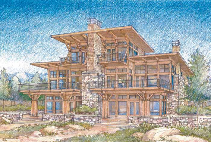 Luxury lake view house plans house plans home designs for Lake view home plans
