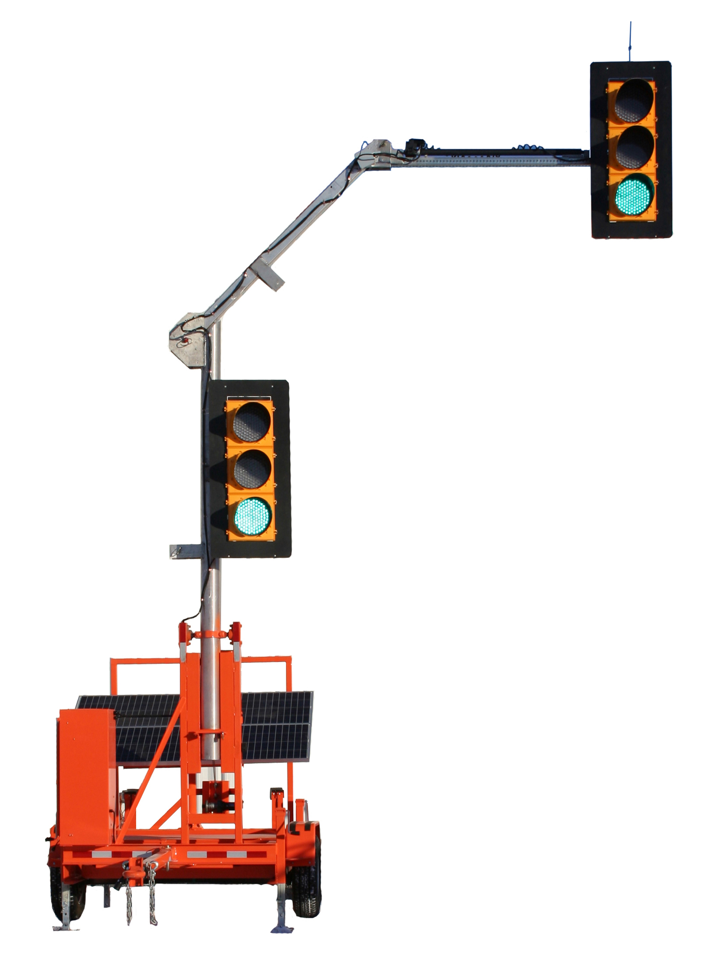 Gps Portable Solar Powered Traffic Light With Remote