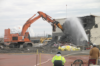 CH2M Hill workers demolished a contaminated laboratory at the Hanford nuclear reservation last year.