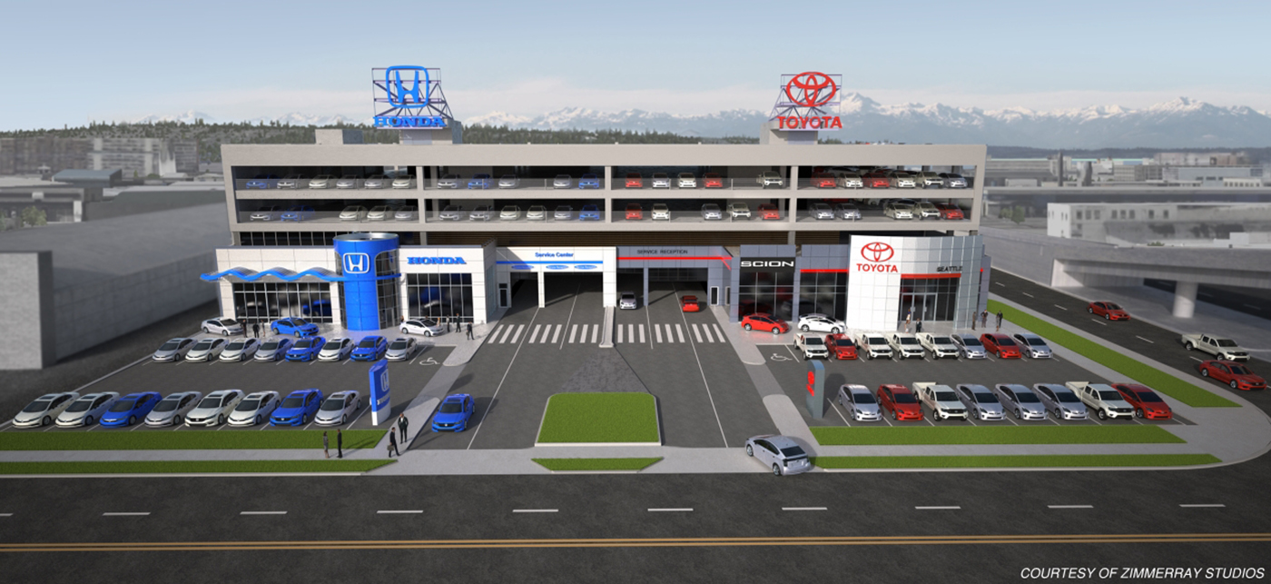 Toyota Dealership Near Me >> Seattle DJC.com local business news and data - Real Estate - Auto dealers find refuge along ...