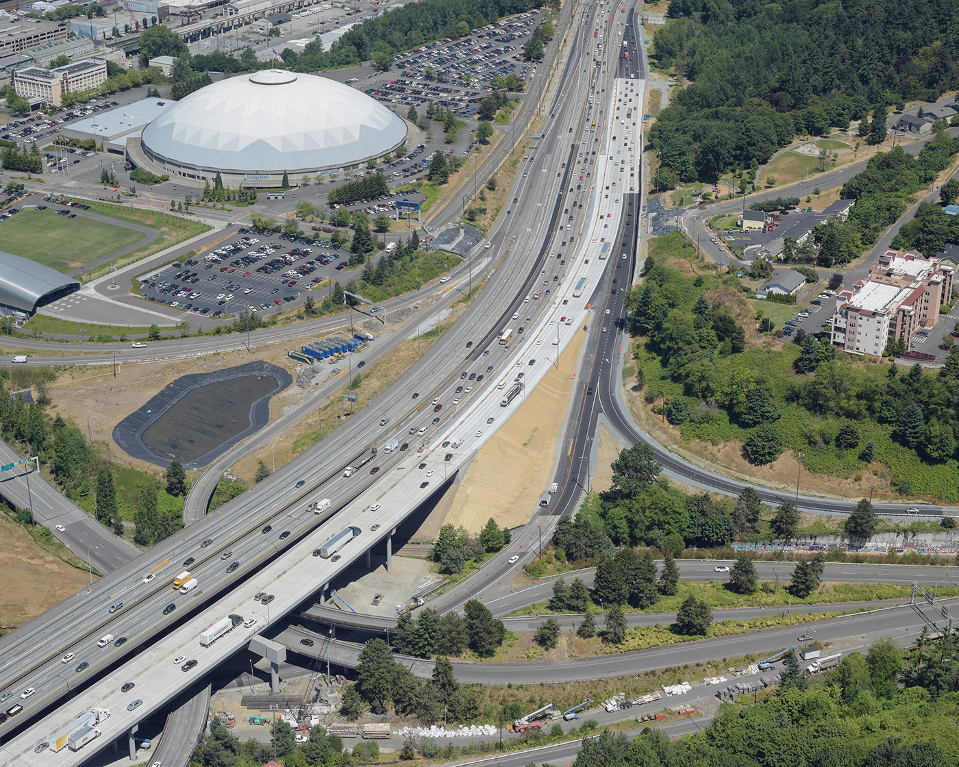 Seattle Djc Com Local Business News And Data Construction Northbound I 5 Lanes Open In Tacoma